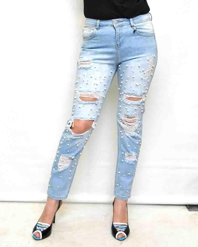 Рваные джинсы для женщин