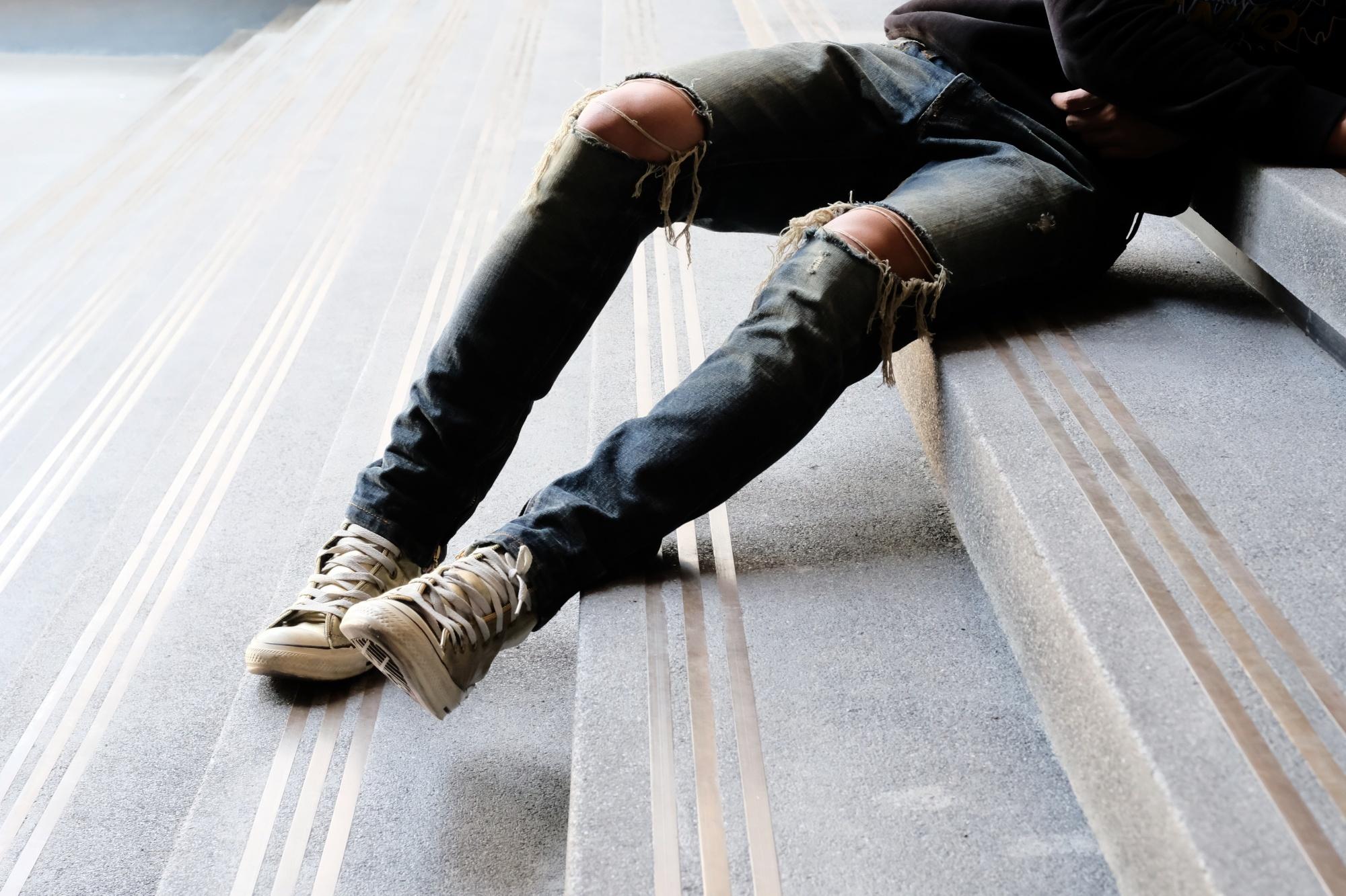 Рваные джинсы мужские