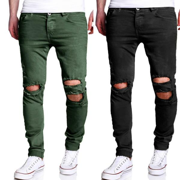 Рваные цветные штаны