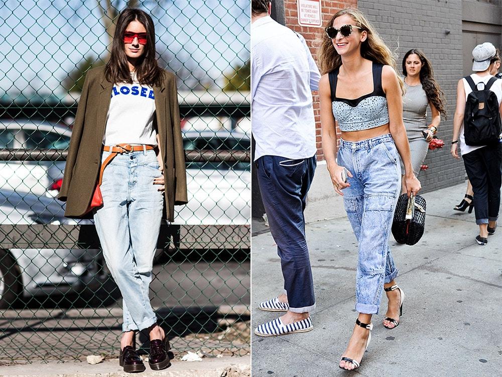 С чем носить джинсы бойфренды женщинам