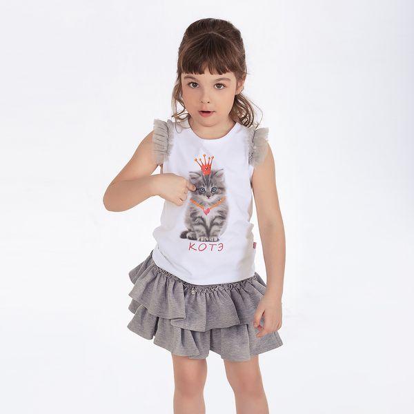 Серая юбка для девочки