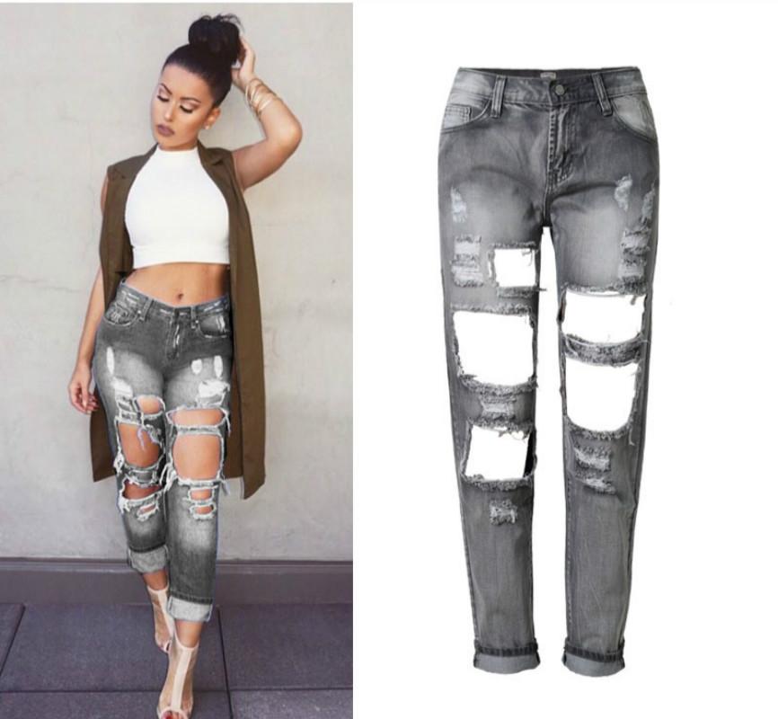 Серый джинс