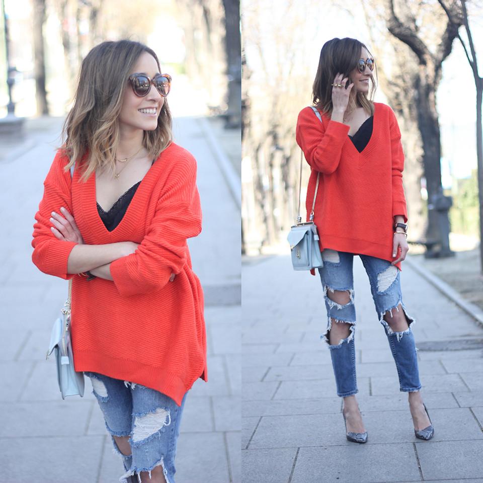 Сочетание со свитером