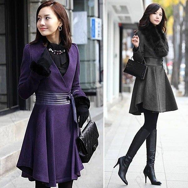 Стильное пальто для молодой девушки