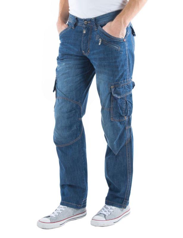 Стильные джинсы с большими карманами Loose Fit
