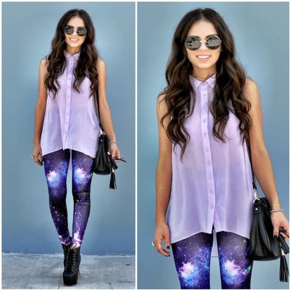 Светло фиолетовая рубашка