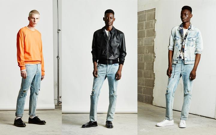 Светлые мужские джинсы в моде