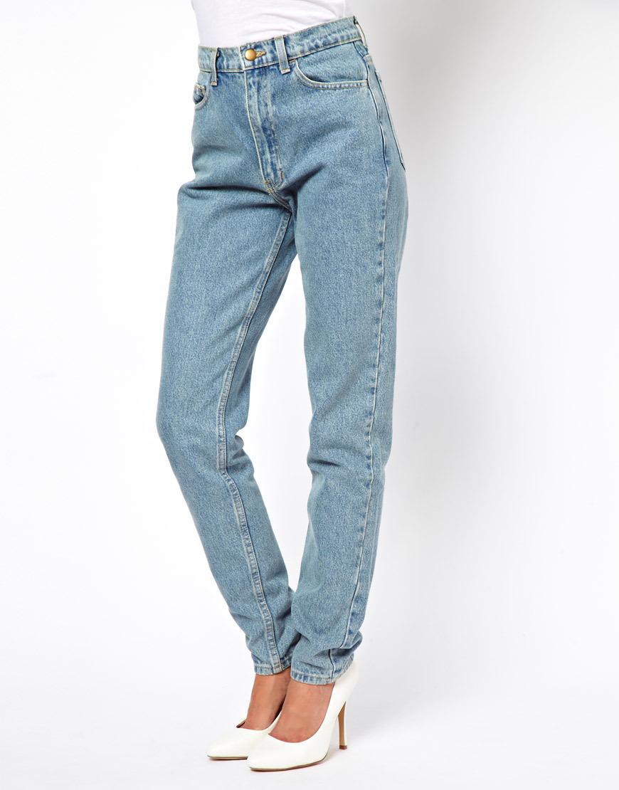 Свободные джинсы с высокой талией