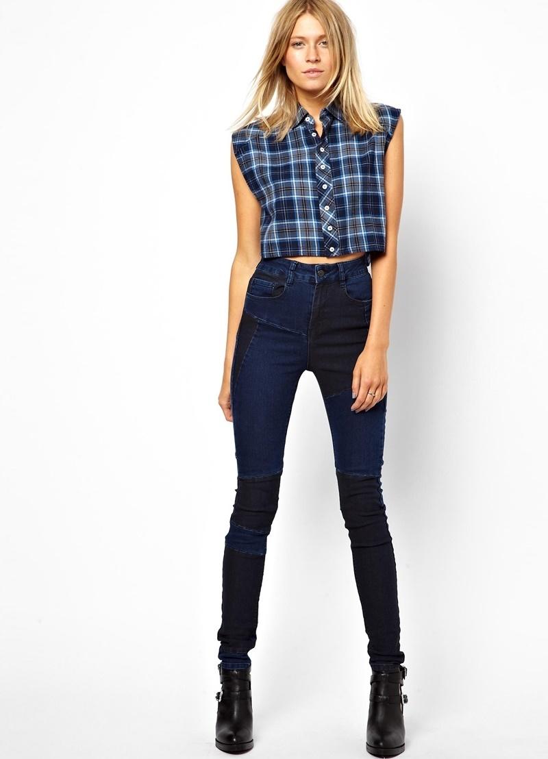 Темный джинс для женщин
