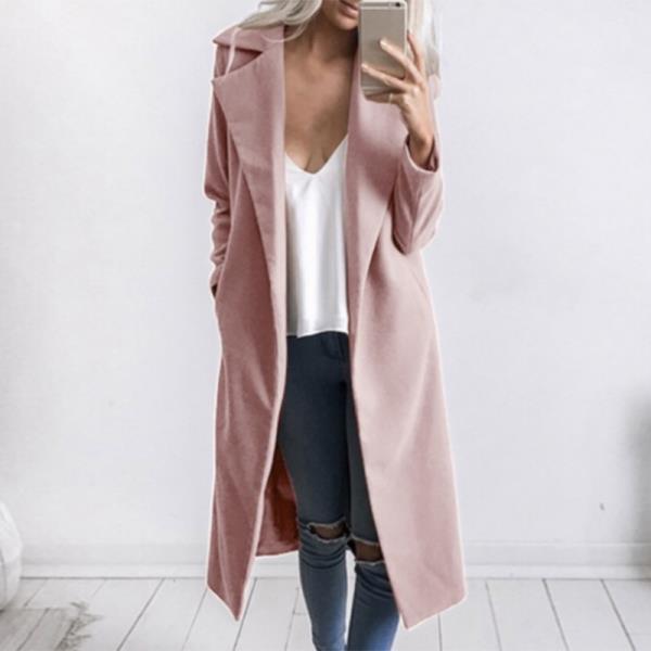 Тонкое длинное пальто
