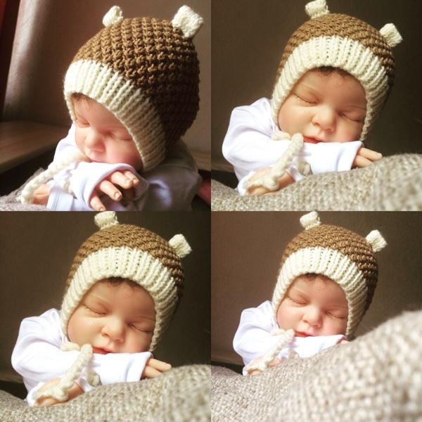 Тёплая шапка для новорожденного