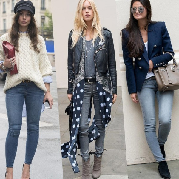 Узкие джинсы в холодное время года