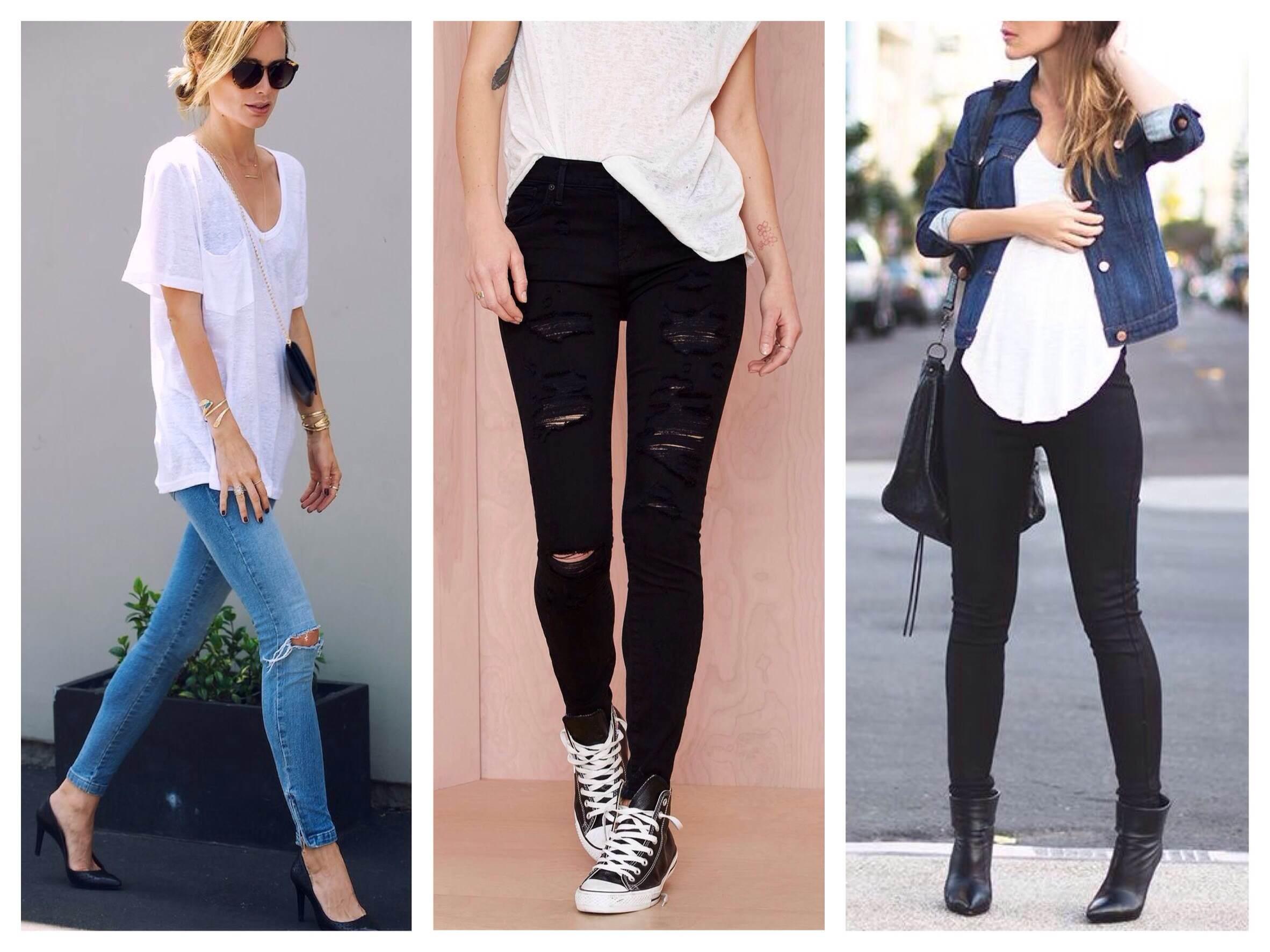Варианты джинс скинни