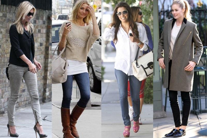 Выбор одежды в пару к узким джинсам