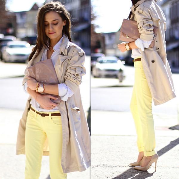 Яркиая желтая одежда