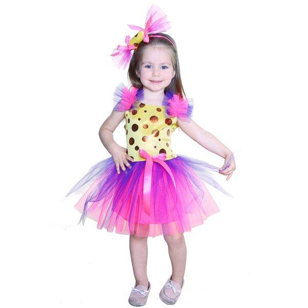 Яркое детское платье