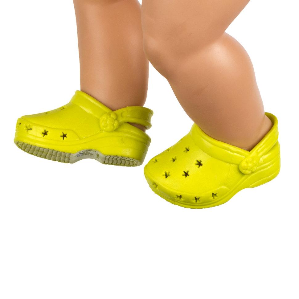 Желтые сандалии из силикона