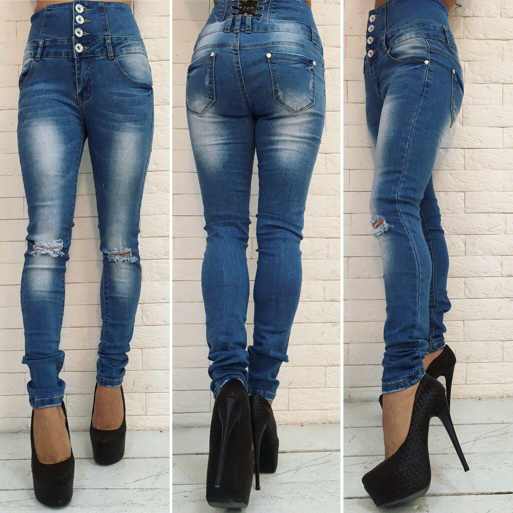 Женские джинсы высокая талия