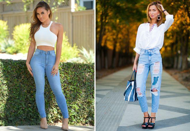 Женские летние джинсы с высокой посадкой