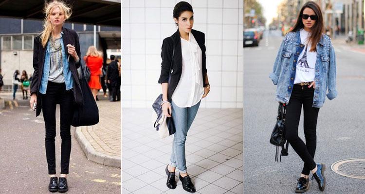 Женские оксфорды под узкие джинсы скинни