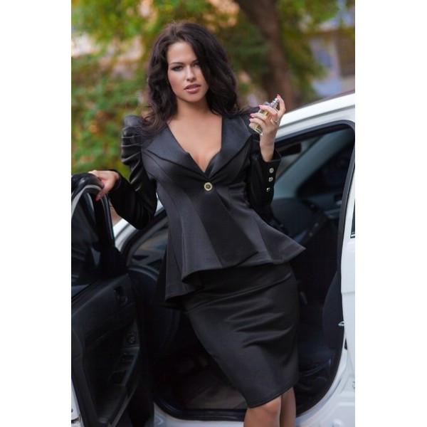 Женское черное деловое платье