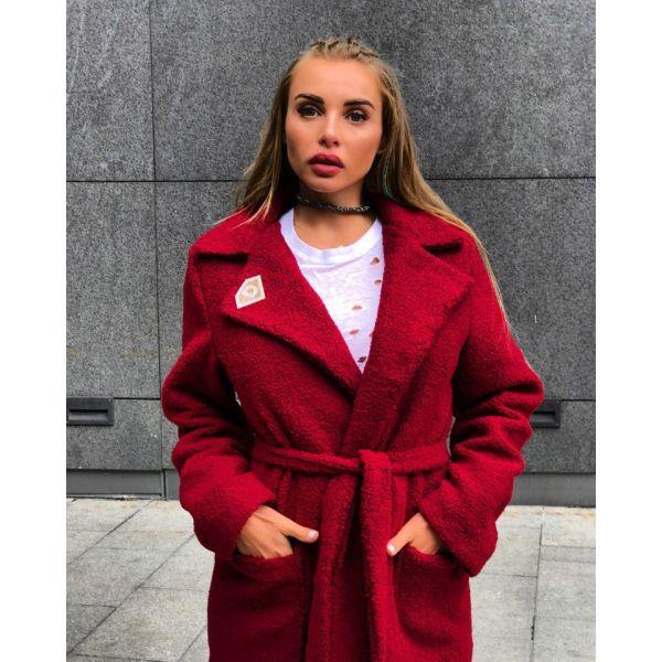 Женское стильное пальто-шуба