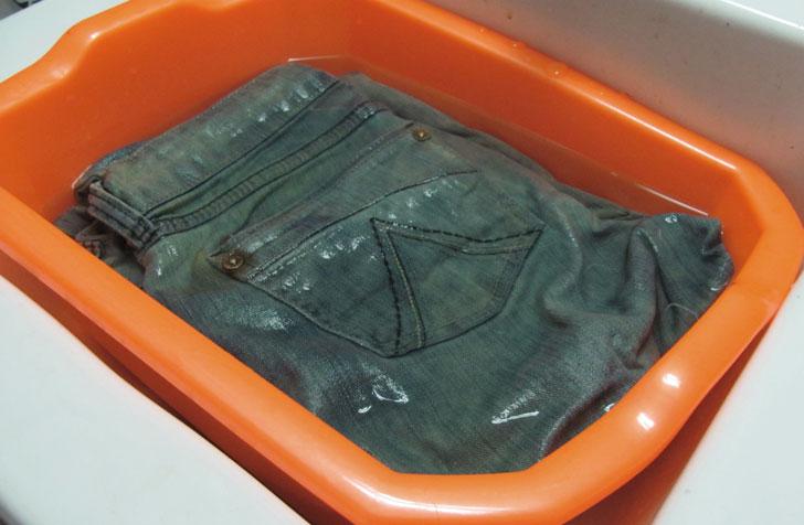 Замоченые джинсы