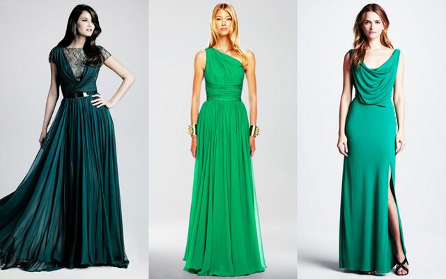 Аксессуары для зеленого вечерного платья