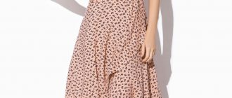 Ассиметричное красивое платье