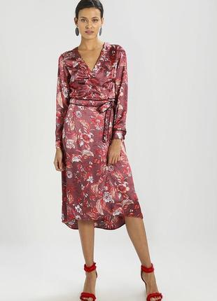 Атласное платье-халат