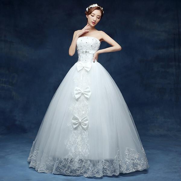 Банты на свадебном платье