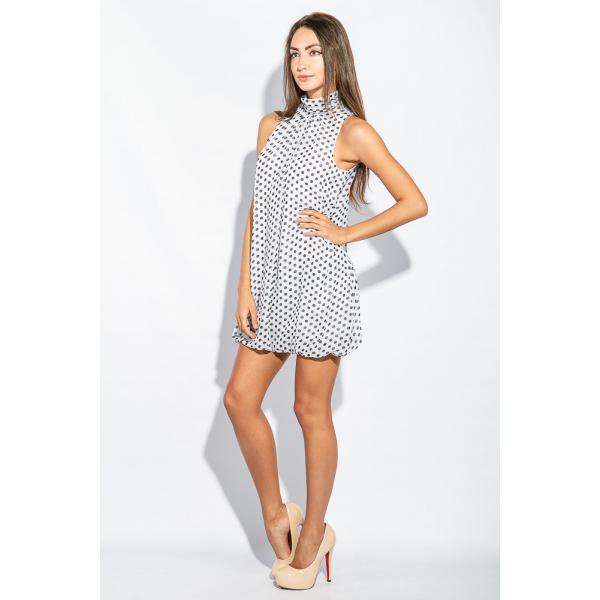 Бело-черное платье