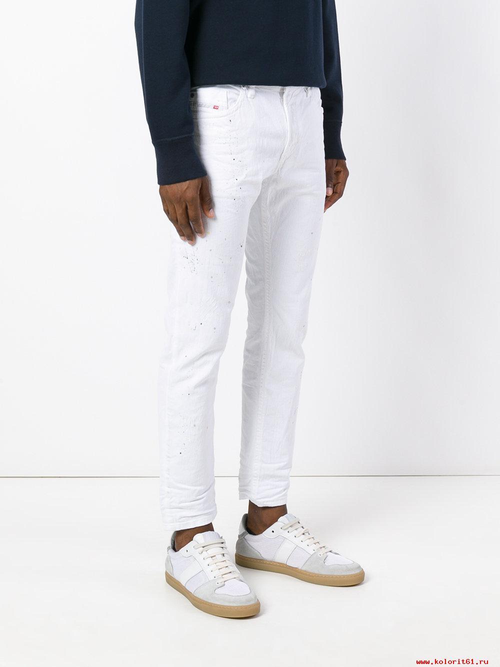 Белые современные штаны