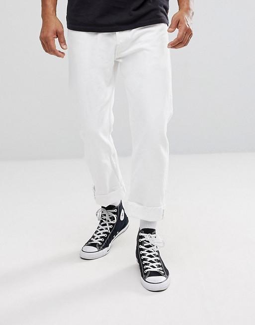 Белые узкие штаны
