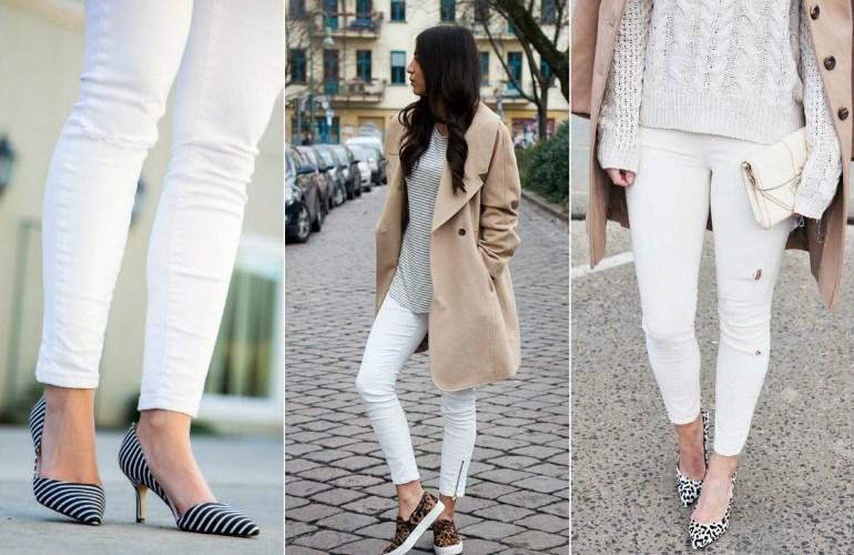Белый джинс