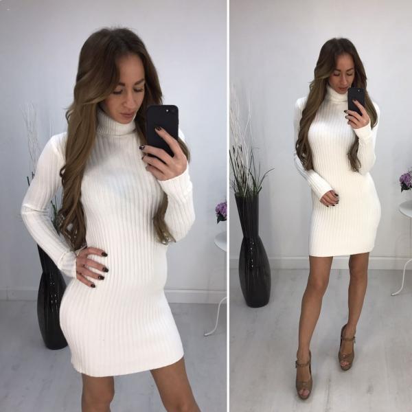 Белый цвет современного платья
