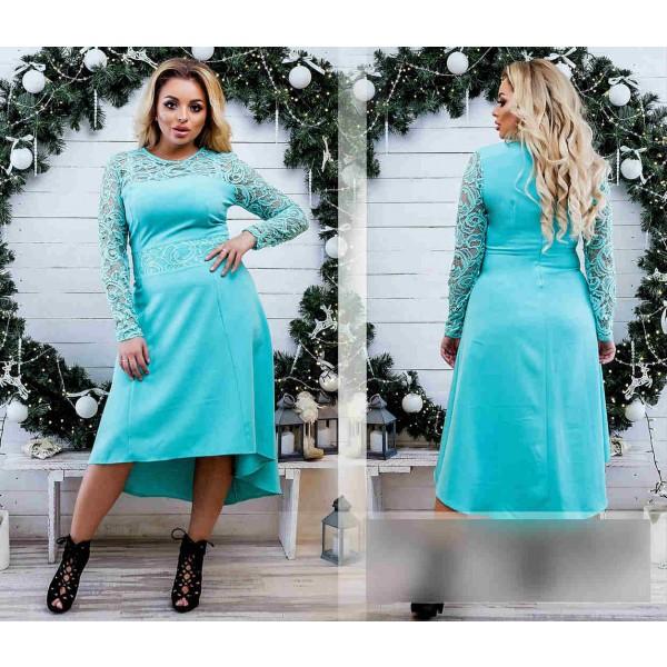 Бирюзовый цвет одежды со шлефом большого размера