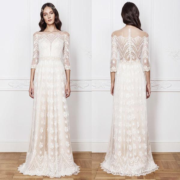 Богемианские кружевные свадебные платья