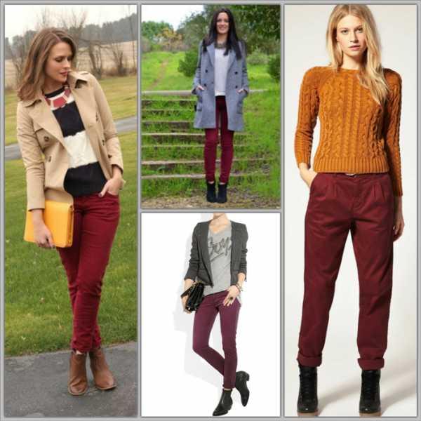Бордовый оттенок одежды
