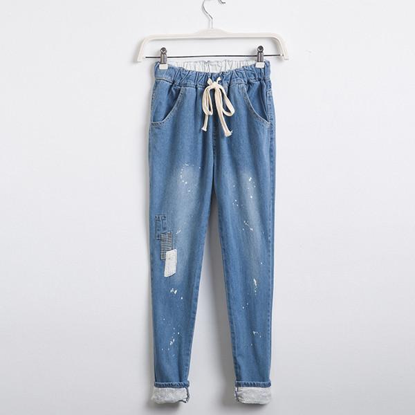 Брендовые джинсы на резинке