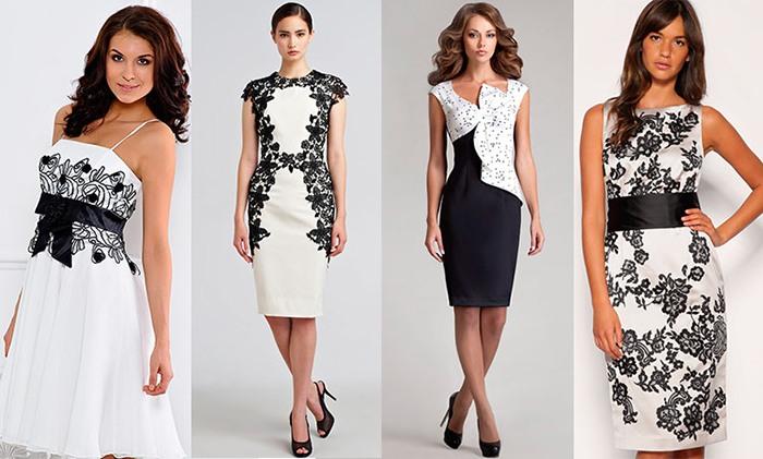 Черно-белый наряд
