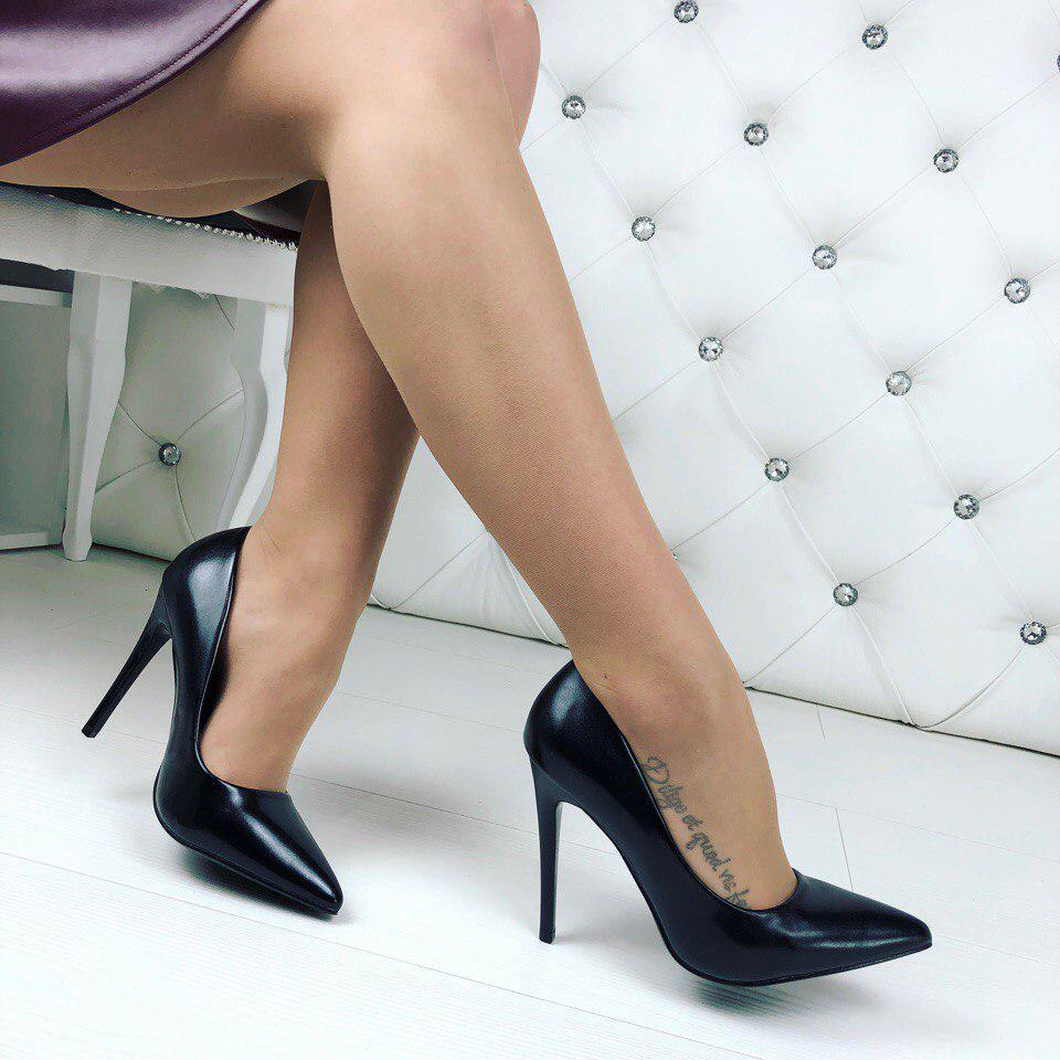 Черные туфли - лодочки