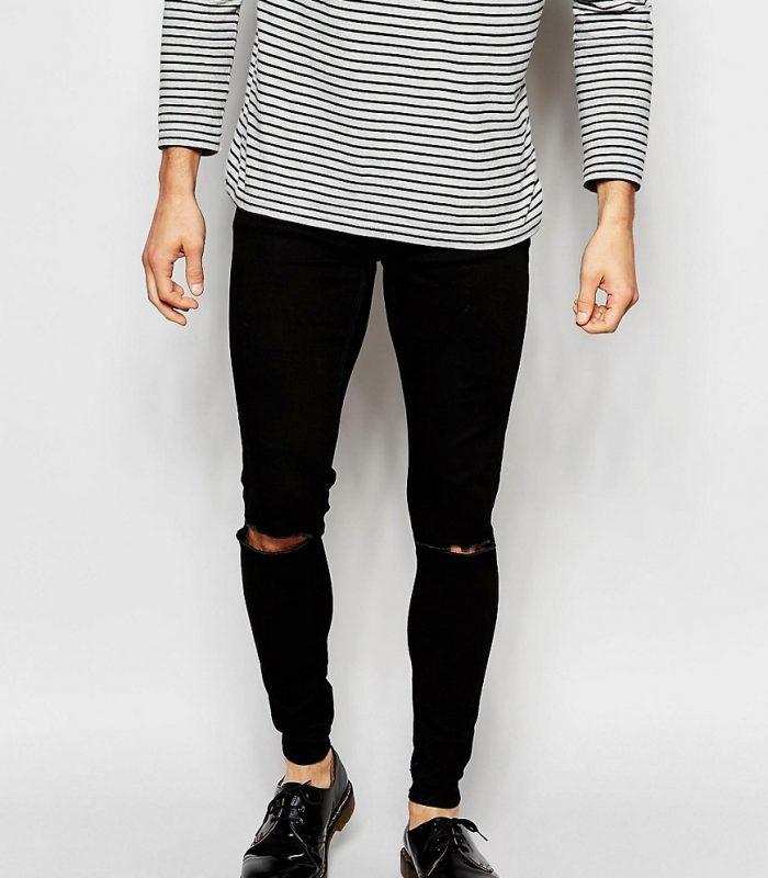 Черный цвет современных джинсов