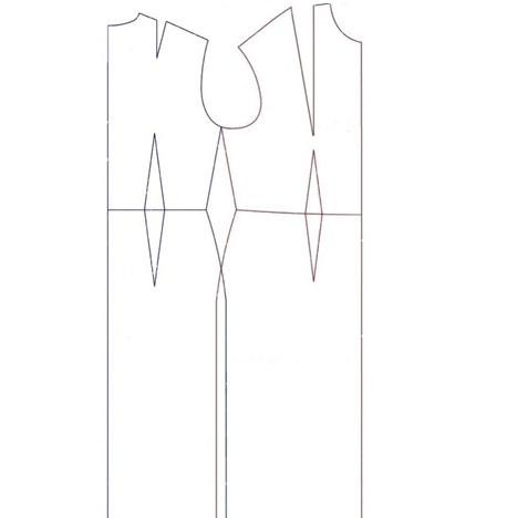 Чертеж базы платья