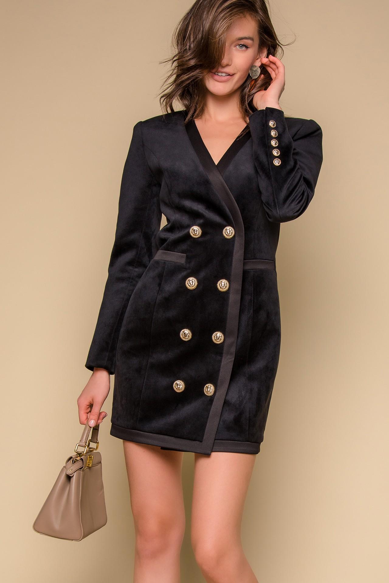 Чёрное вечернее платье пиджак
