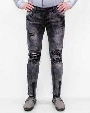 Джинсы мужские серого цвета