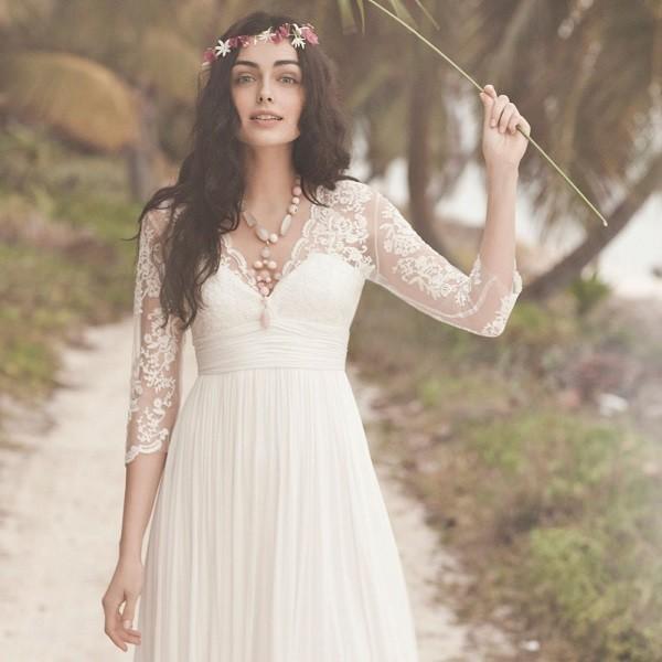 Фото свадебного платья в стиле прованс