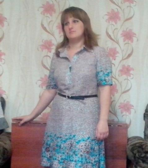 Готовое платье а силуэта