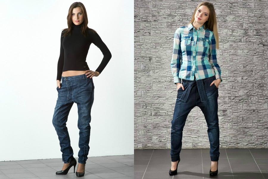 Как носить джинсы с низкой слонкой