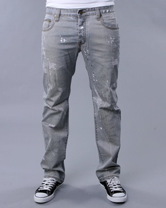 Как носить серые джинсы